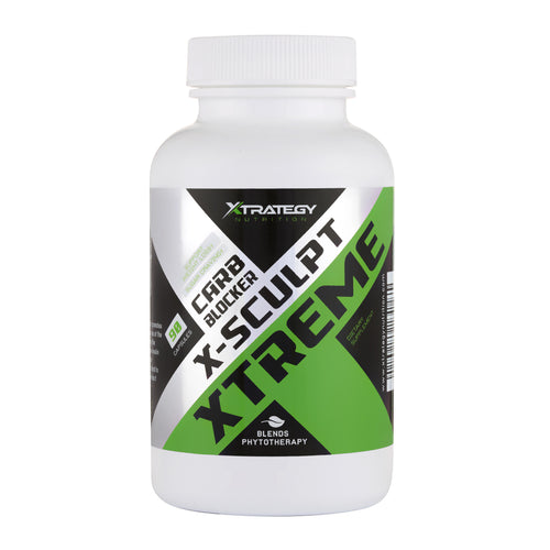 X-SCULPT Xtreme CARB Blocker X-Sculpt Xtreme Xtrategy Nutrition Natural Blend Chromium, CHITOSAN, GYMNEMA Leaf Powder, White Kidney Beans Powder, Biter Orange Fruit Powder.