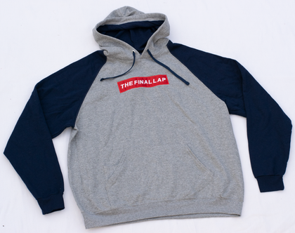 Grey Hoodie with Navy Sleeves