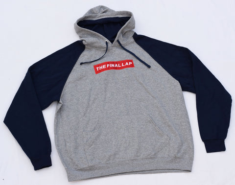 Grey Hoodie with Black Sleeves