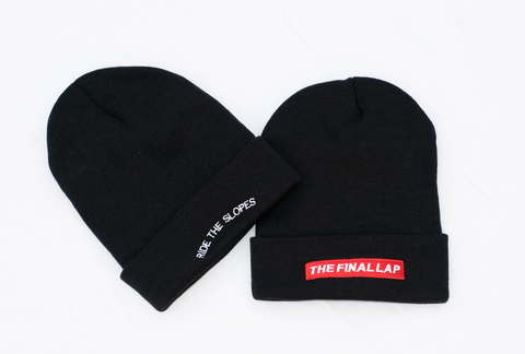 Black Final Lap Beanie
