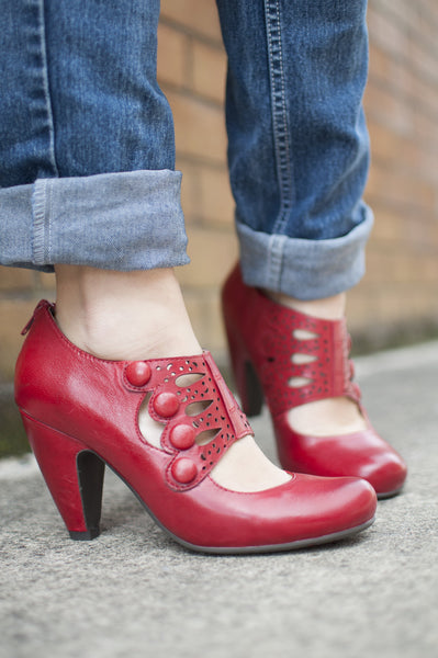 Red Miss Mooz Shoes