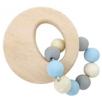 Circle Natural Rattle blue