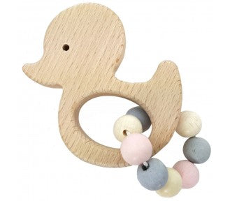 Wooden Rattle Grifton duck