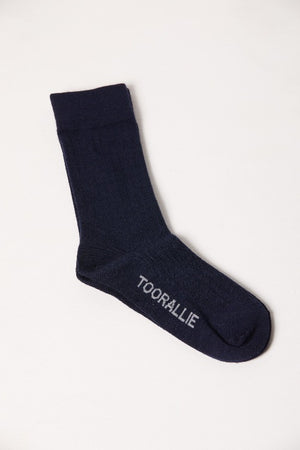 Navy Merino socks