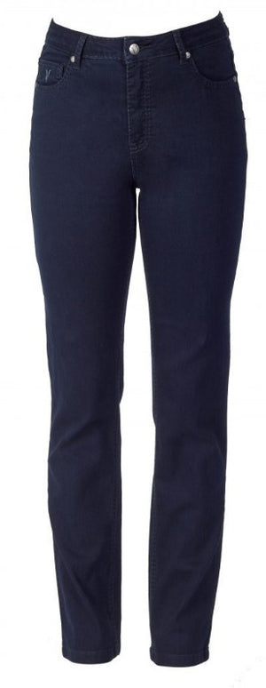 slim leg Jean - indigo and black