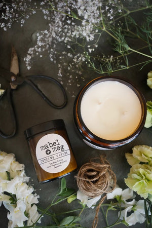 Cutting garden soy candle by mabel + meg