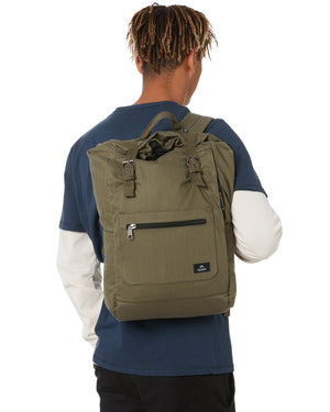 rusty sandman roll top back pack