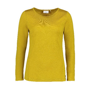 perfect merino crew neck foil pistachio