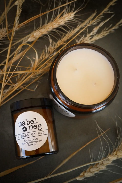 Fields of Hay Soy candle by mabel + meg