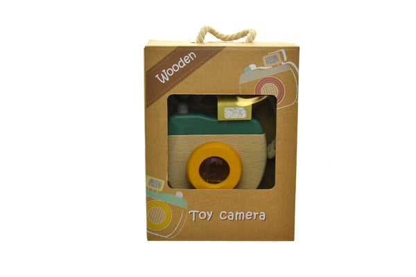 wooden toy camera - olive