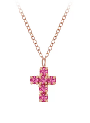 rose crystal cross