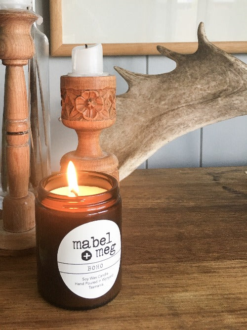 Mabel and Meg Boho Soy Candle