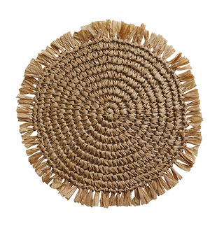 Fringe Natural placemat round