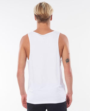 plain white tank back view