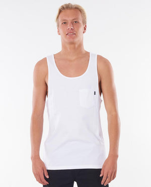 plain white tank front view