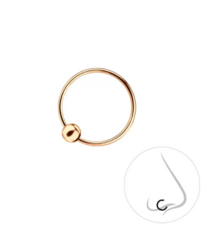 rose gold nose ring