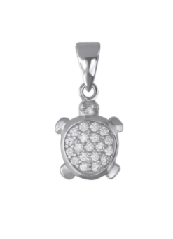 silver turtle necklace pendent