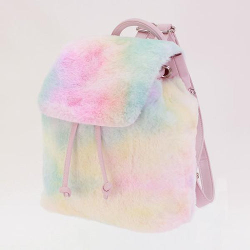 Tiny Cotton Candy Faux Fur Backpack