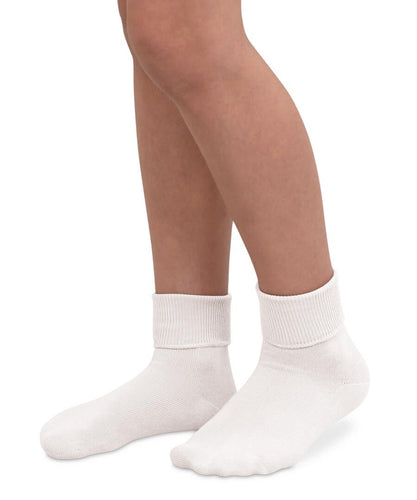 Smooth Toe Turn Cuff Socks - White (2200)