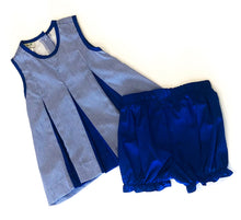 Load image into Gallery viewer, Pleated Spirit Set - Blue & White