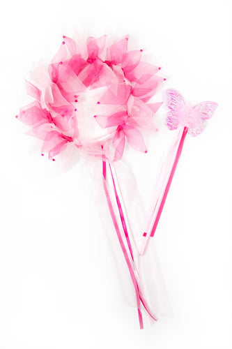 Hot Pink/Light Pink Fairy Halo & Wand