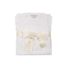 Load image into Gallery viewer, Darling Debut Gift Set (with snaps) - White with Palmetto Pearl