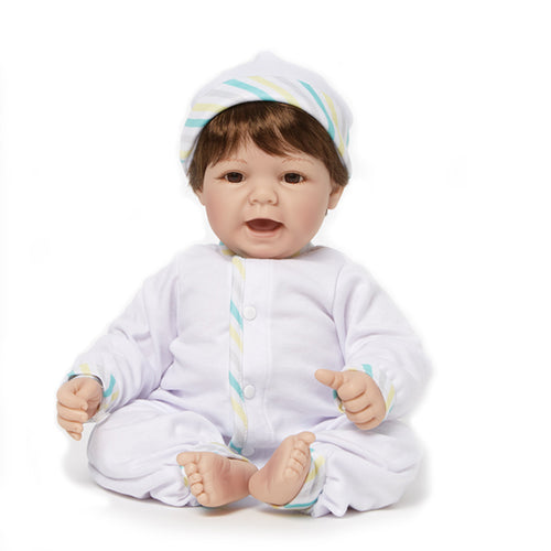 Newborn Nursery 76010 - Sweet Baby Brown Eyes/Brown Hair/Lt Skin