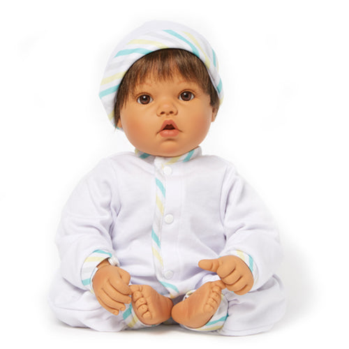 Newborn Nursery 76030 - Baby Face Med Skin/Brown Hair/Brown Eyes
