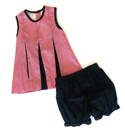 Pleated Spirit Set - Red & Black