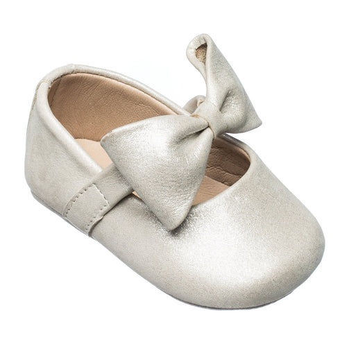 Baby Ballerina with Bow - Talc