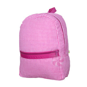Medium Backpack - Pink Gingham
