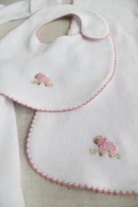 Pinpoint Bib/Burp Set - Pink