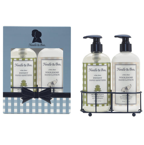 Instant Hand Sanitizer & Wholesome Hand Lotion Caddy Gift Set