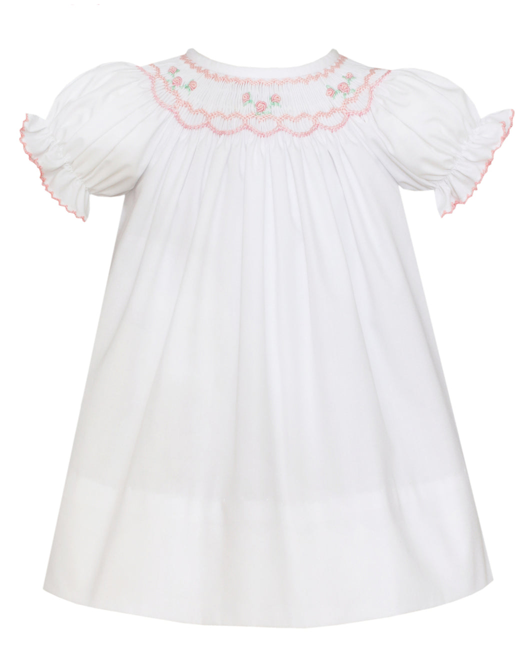 Katie Bishop Dress White w/ Pink