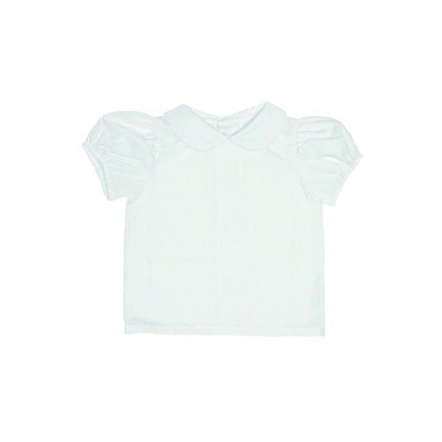 Maude's Peter Pan Collar Shirt - Short Sleeve Woven Worth Ave. White
