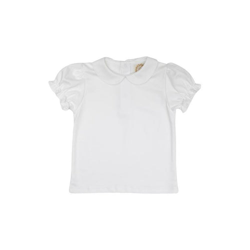 Maude's Peter Pan Collar Shirt - Short Sleeve Pima White