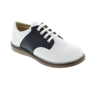Cheer Saddle Shoe - White/Navy