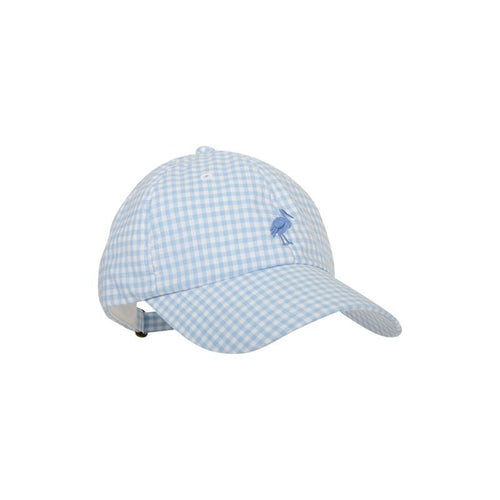 Covington Cap - Buckhead Blue Gingham with Barbados Blue Stork