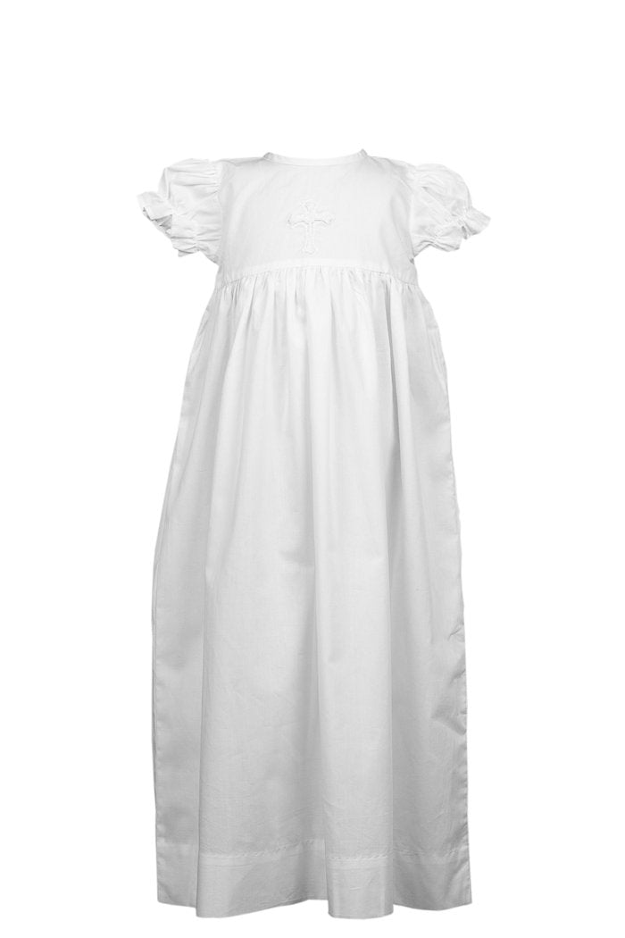 Cross Baptism Gown - Girl