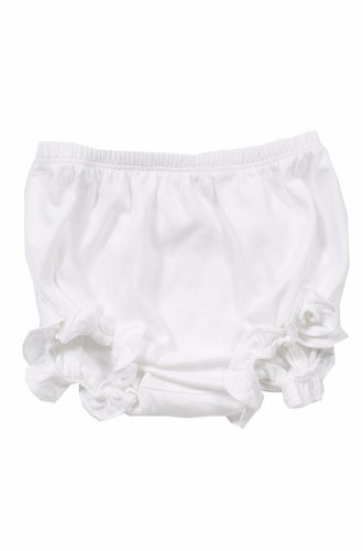 Vivian Ruffled Bloomer - White