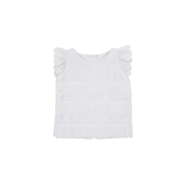 Ellie's Eyelet Top - White