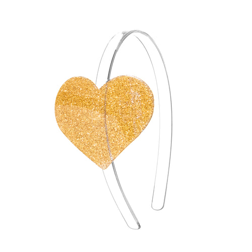 Cece Heart Headband - Glitter Gold