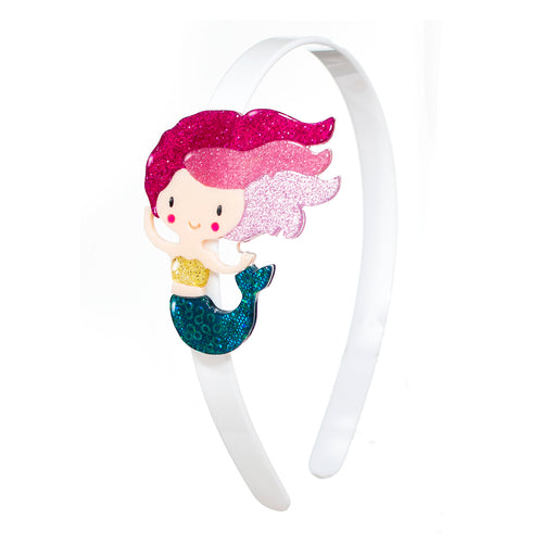 Underwater Mermaid Headband - Glitter Pink