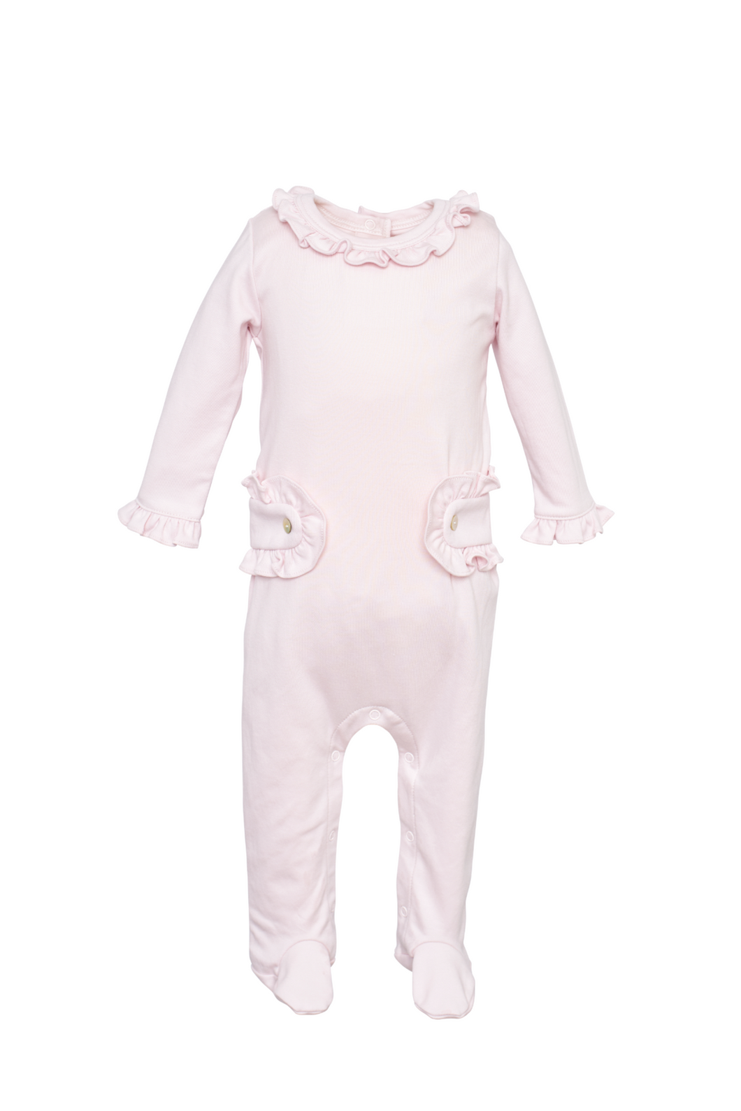 Lucy Footed Romper - Light Pink