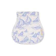 Load image into Gallery viewer, Oopsie Daisy Burp Cloth - St. Simon's Sailboat (blue)
