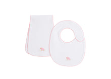 Load image into Gallery viewer, Pinpoint Bib/Burp Set - Pink