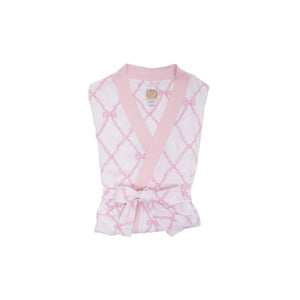 Ready or Not Robe - Belle Meade Bow with Palm Beach Pink