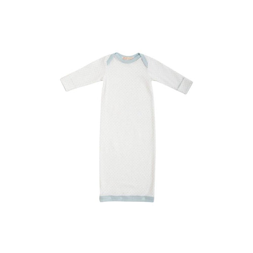 Sadler Sack Gown - Buckhead Blue Micro Dot