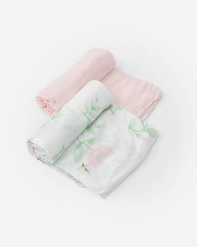 Deluxe Muslin Swaddle 2 Pack - Blush Peony Set