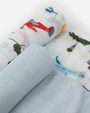 Load image into Gallery viewer, Deluxe Muslin Swaddle 2 Pack - Air Show Set